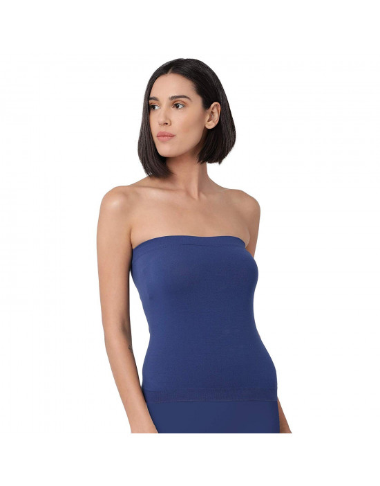 Womens Tube Top Spandex Fabric Strapless - Set of 2