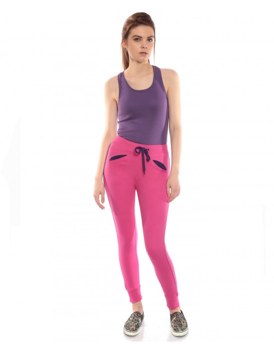 Women's track pant for jogging with Narrow Bottom