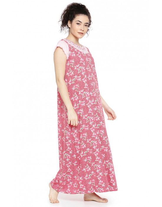 GOLDSTROMS Womens Pink Floral Printed Nightdress