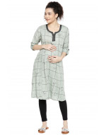 GOLDSTROMS Women Maternity Kurti with Concealed Zip for Feeding