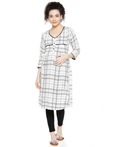 Minelli Maternity Kurti with Concealed Zip for Feeding