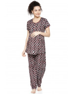 GOLDSTROMS Womens Maternity Nightsuit Set with Feeding Option