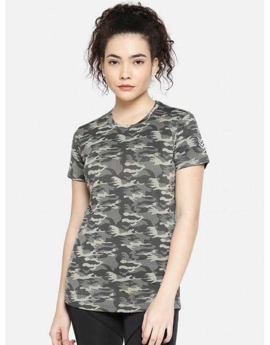 GOLDSTROMS Womens camo Print dri-fit T-Shirt