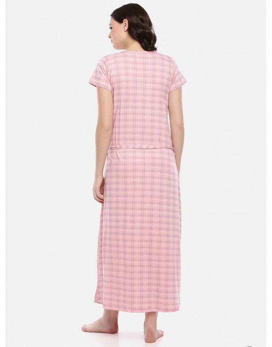 GOLDSTROMS Womens Pink Printed Maternity Nightdress