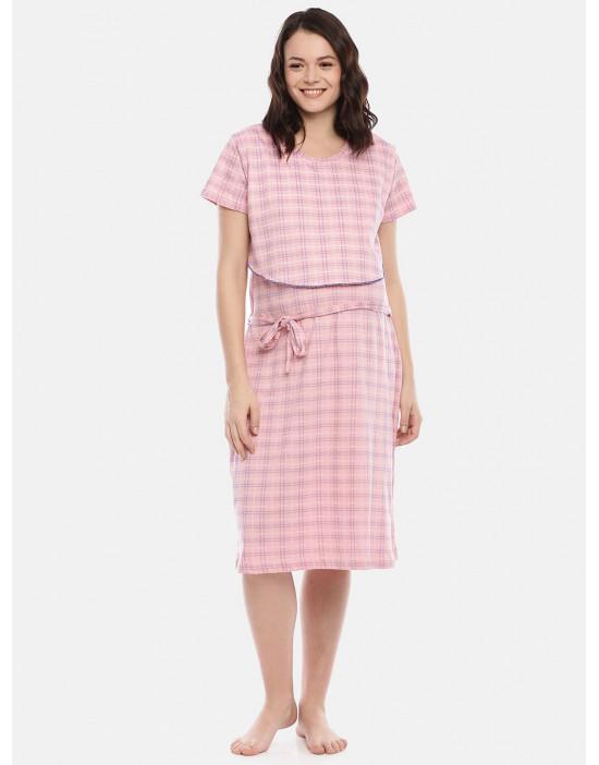 GOLDSTROMS Womens Pink Printed Maternity Nightdress