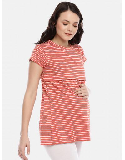GOLDSTROMS Womens Maternity Stripe Tee