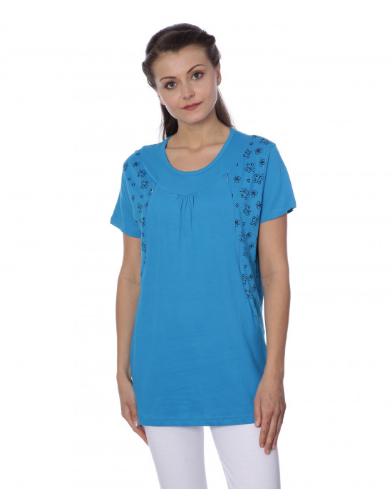 Round Neck Maternity T-Shirt For Women's - Goldstroms