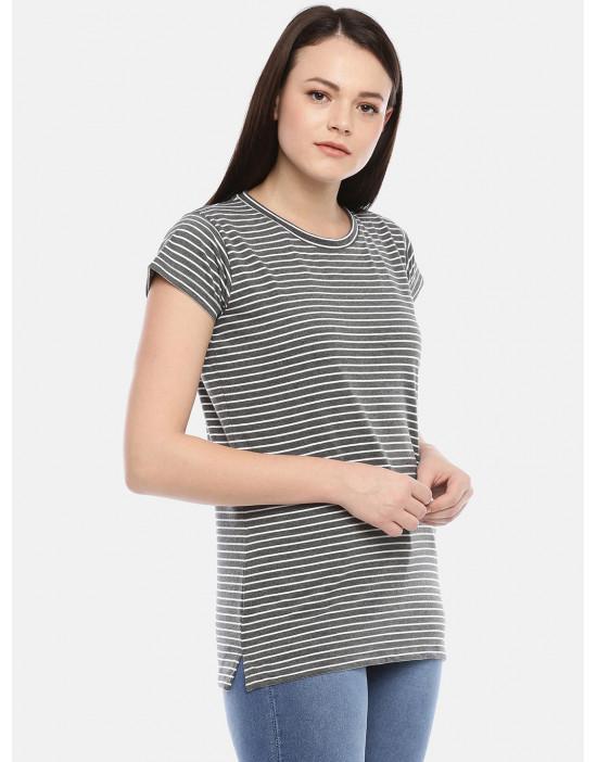 GOLDSTROMS Womens Casual Stripe Tee