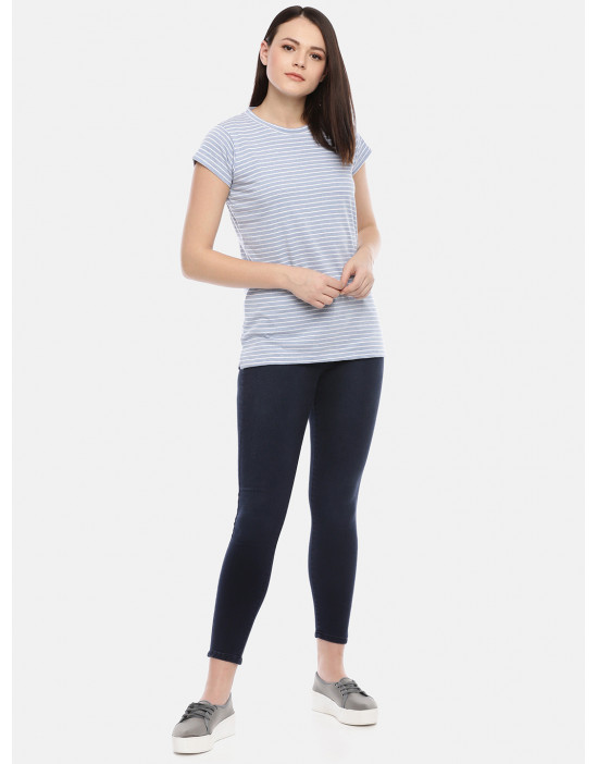 GOLDSTROMS Womens Casual Stripe Tee