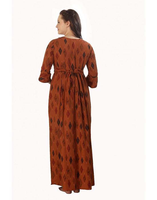 GOLDSTROMS Womens Printed Long Maternity Nightdress