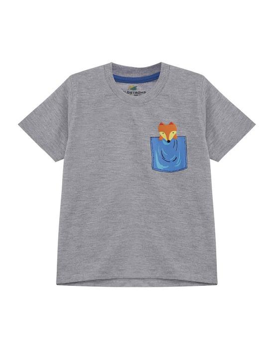 GOLDSTROMS Kids Round Neck Cotton Logo T-Shirt for Boys - Pack of 3