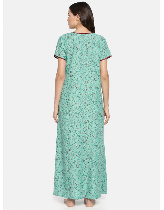 GOLDSTROMS Womens Green Printed Maternity Nightdress