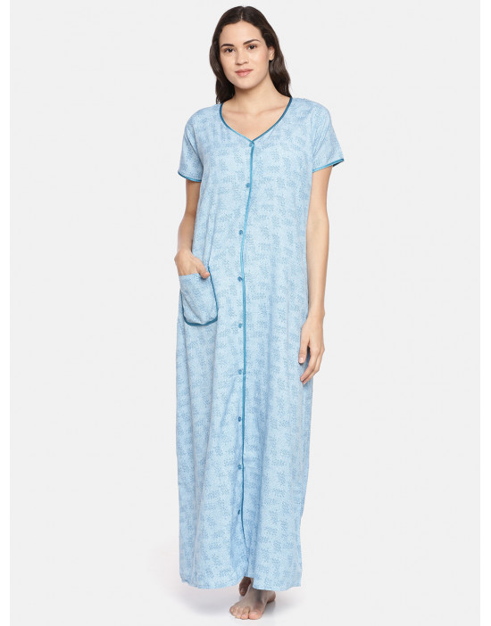 GOLDSTROMS Womens Blue Printed Maternity Nightdress