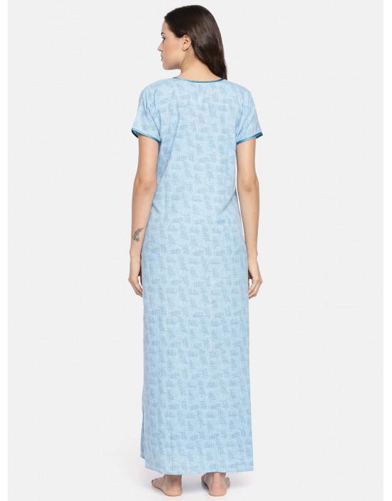GOLDSTROMS Womens Blue Printed Maternity Nightdress