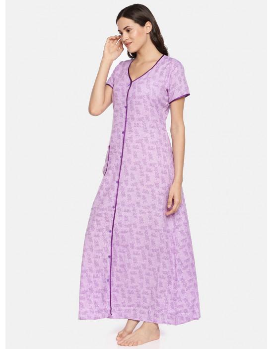 GOLDSTROMS Womens Purple Printed Maternity Nightdress
