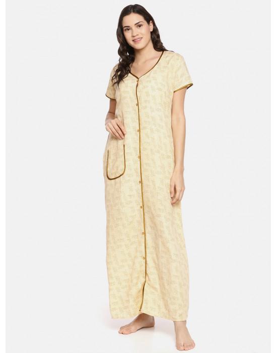 GOLDSTROMS Womens Yellow Printed Maternity Nightdress