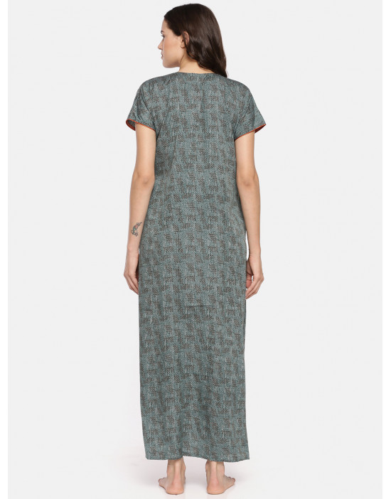 GOLDSTROMS Womens Green Printed Maternity Nightdress