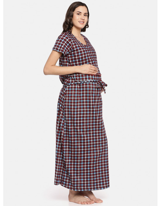 GOLDSTROMS Womens Red Printed Maternity Nightdress