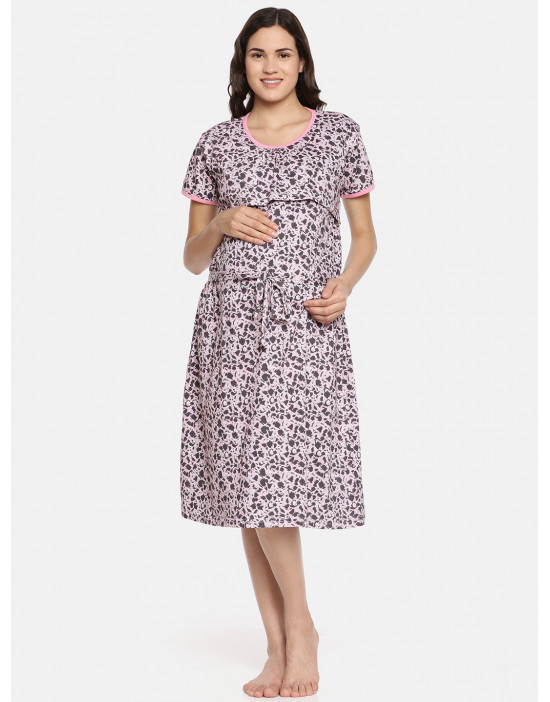 GOLDSTROMS Womens Pink Printed Maternity Tunic