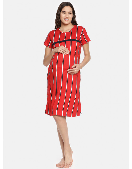 GOLDSTROMS Womens Red Printed Maternity Tunic