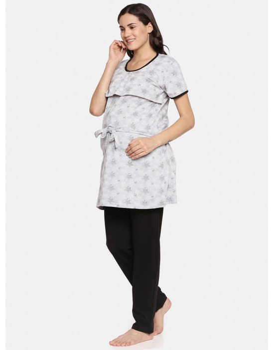 GOLDSTROMS Womens Maternity Printed Nightsuit