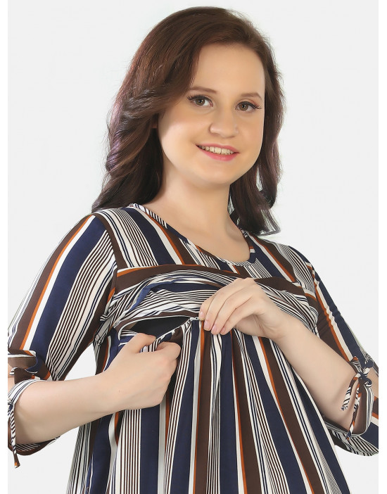 GOLDSTROMS Womens Printed Long Maternity Nightdress