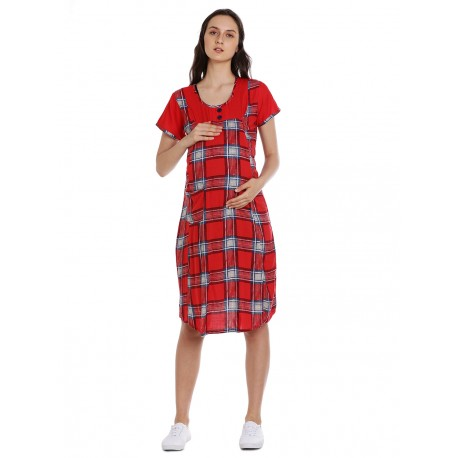 women's long maternity nursing gown